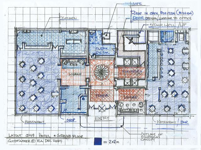Grand hotel main floor plan layout design for Hotel design layout