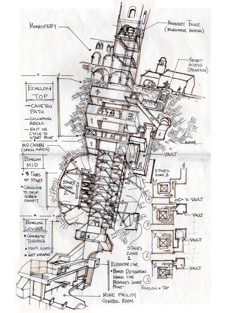 Diavolo's Plan  -  Early Layout Design Study