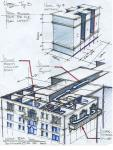 Grand Hotel  -  Cutaway View     Layout Design