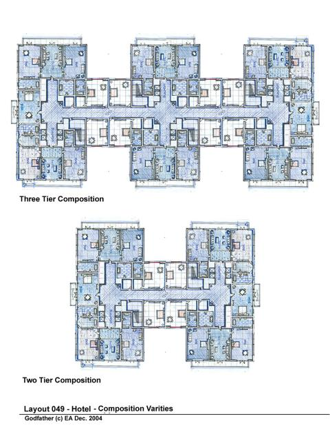 Grand hotel floor plan assembly options layout design for Hotel design layout