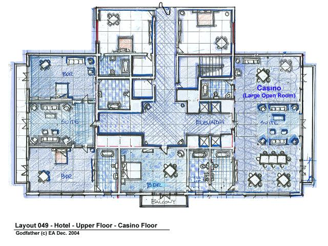 Grand hotel upper floor plan layout design for Hotel design layout