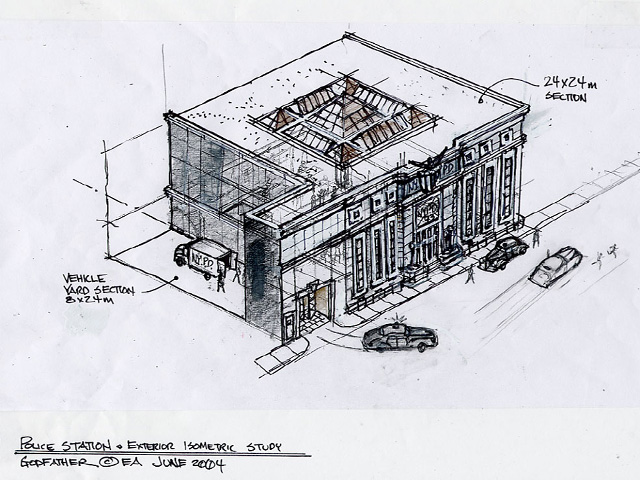 Police Station  -  Layout Exterior Design