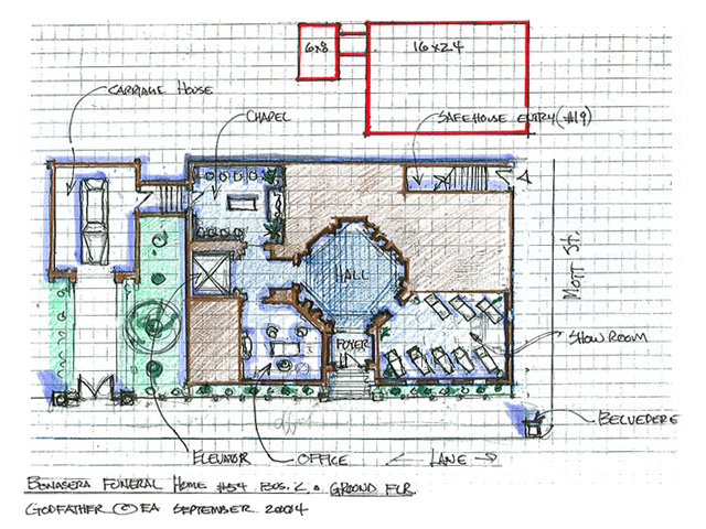 Bonasera Funeral Home - Floor Plan Layout Design