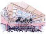 Shopping Center  -  Design Study  -  Main Atrium